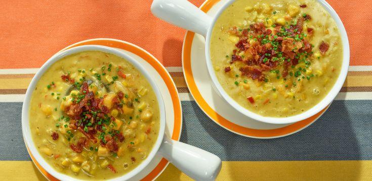 Sweet Potato and Corn Chowder By Geoffrey Zakarian