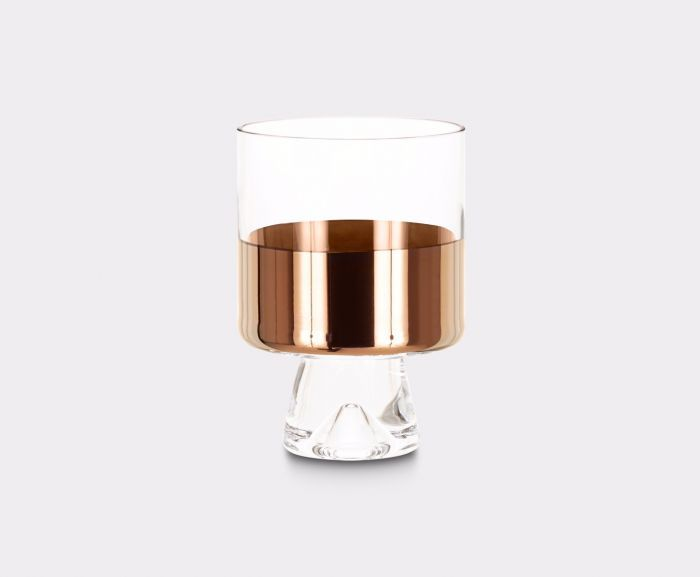 <p>Tank Low Ball Glasses are sold in pairs. Mouth-blown and ornamented with hand-painted copper detailing they go hand in hand with our Tank High Ball Glasses and pair beautifully with items from our Plum range too. Especially made for short drinks, perfect for whisky and cocktails. Presented in gift-worthy packaging.</p>