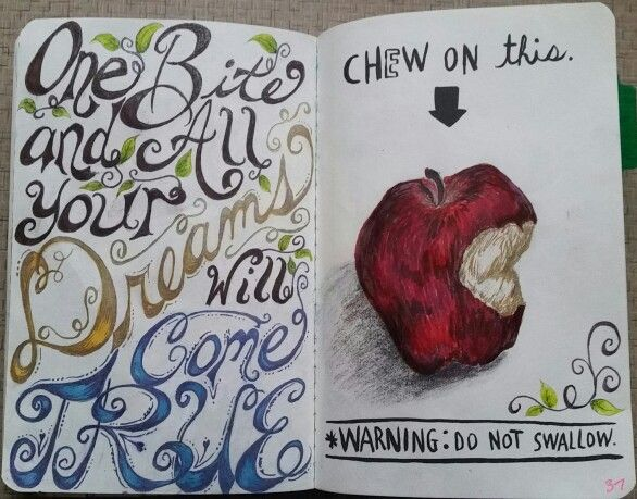 Wreck this Journal, chew on this. #snowwhite #wreckthisjournal