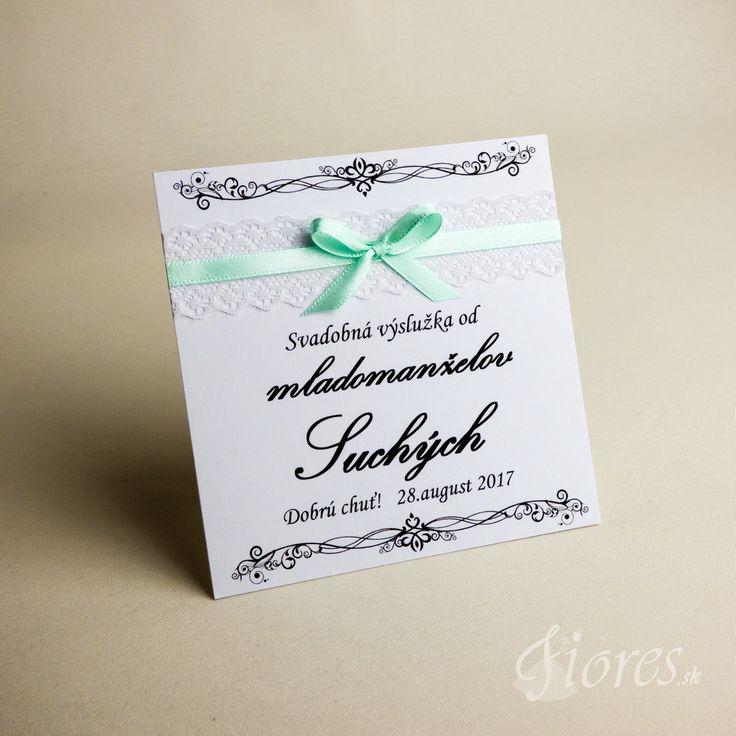 """Svadobné etikety """"Tyrkys"""" Vytvorili sme pre Vás romantické etikety na výslužky v jemnom svadobnom prevedení."""