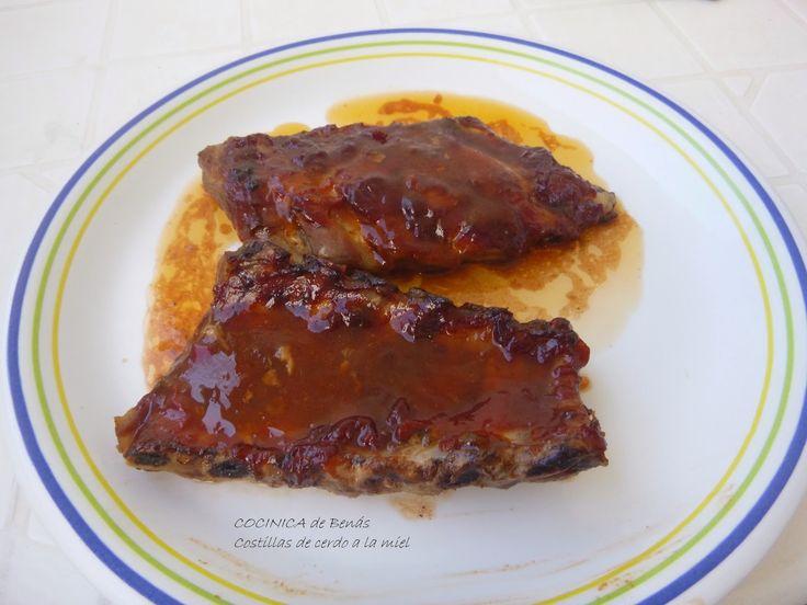 COCINICA de Benas: Costillas con salsa barbacoa de miel