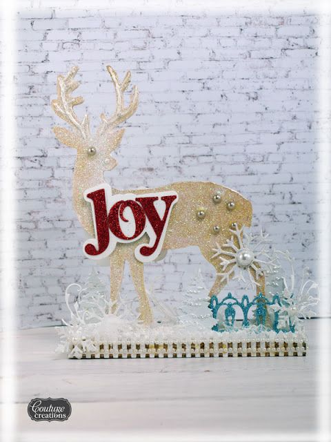 Couture Creations: Christmas Joy Deer Centrepiece by Sue Smyth