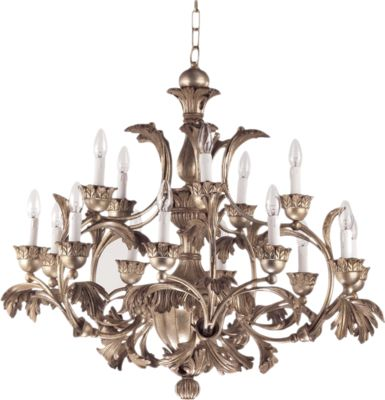 ivory chandelier with curved designs