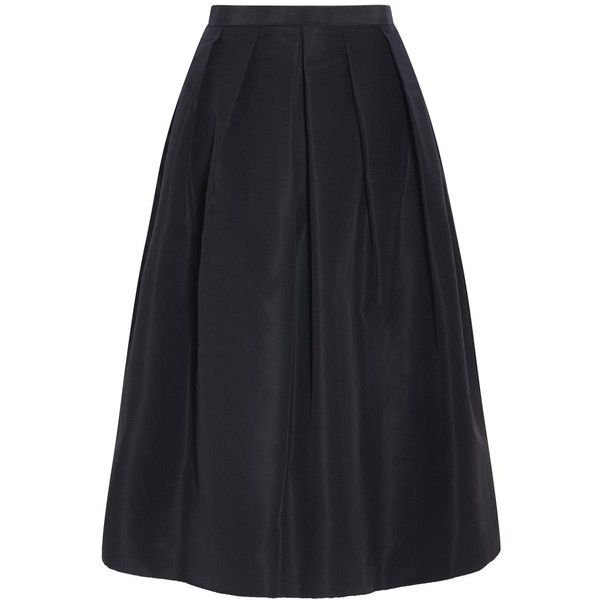 Tibi Puffy Skirt ($277) ❤ liked on Polyvore featuring skirts, zip skirt, going out skirts, inverted pleat skirt, tibi and puff skirt