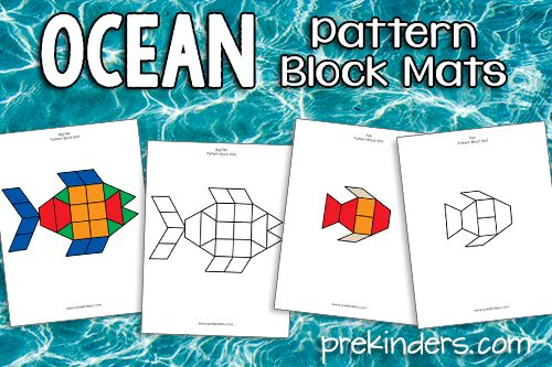 Ocean Pattern Block Mats