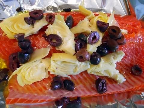 Salmon + artichokes +olives + garlic! Capers and some lemon & 16 best Cooking-Camping Whole 30 Grill images on Pinterest ...