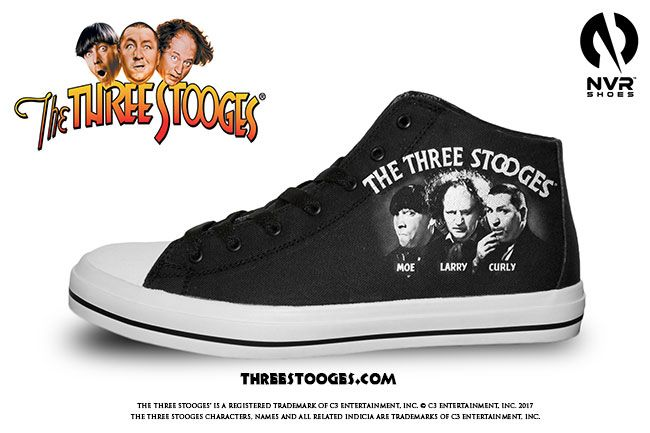 C3 Entertainment Licenses The Three Stooges® Brand To NVR Shoes For Custom Kicks. Get your Three Stooges sneakers for the Holidays!
