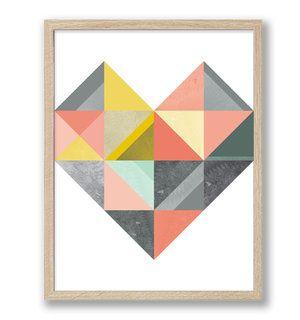 Retro heart - retro poster  http://annagorandesign.shop.textalk.se