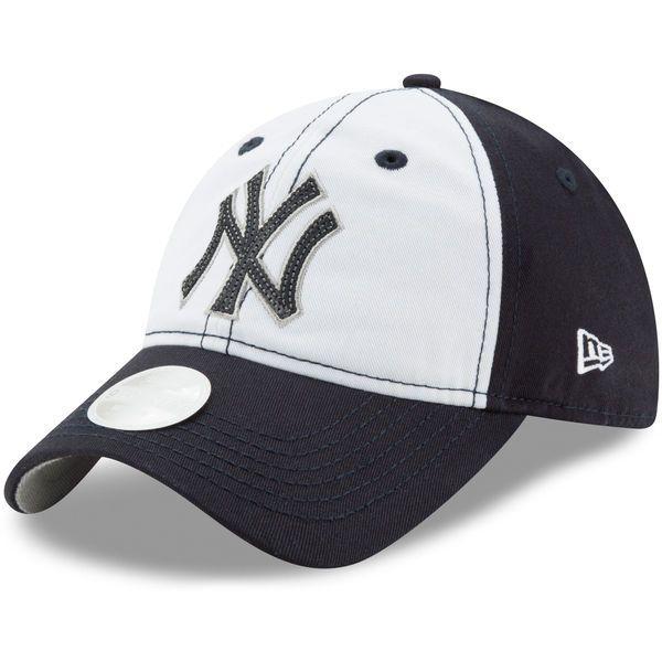ac67ab4e New Era New York Yankees White/Navy Team Glimmer 9TWENTY Adjustable Hat