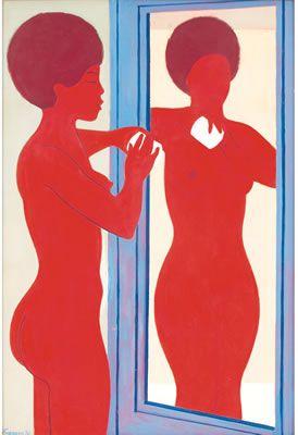 Zell Ingram (b. 1910), 1970, Girl Before the Mirror.