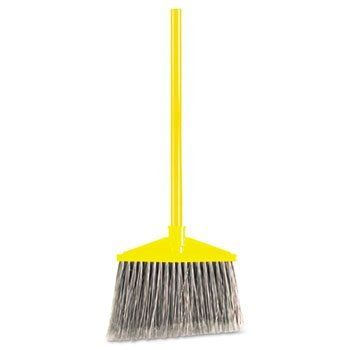 "3 Pack Angled Large Broom, Poly Bristles, 46-7/8"" Metal Handle, Yellow/Gray by RCP (Catalog Category: Office Maintenance, Janitorial & Lunchroom / Cleaning Supplies) by RCP. $76.49"