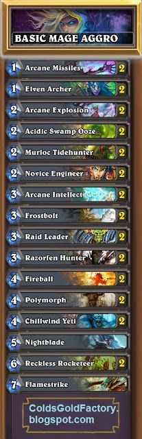 Hearthstone Starter Mage Deck built with Basic Cards Only