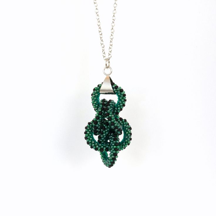 New to ShalaneHopkins on Etsy: Green and Black Beadwoven Ring Cluster Pendant Necklace (63.00 NZD)