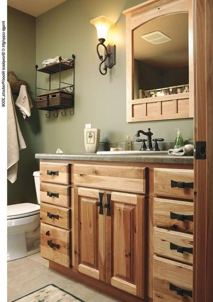Inspiring Hickory Bathroom Vanity Design