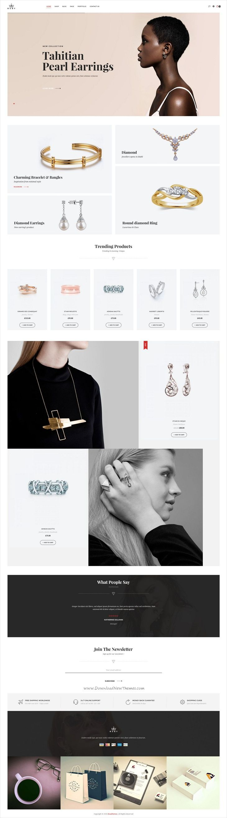 Ruby is an elegant and modern design responsive #WordPress theme for stunning #jewelry store #eCommerce website with 6 homepage layouts download now➩  https://themeforest.net/item/ruby-fashion-responsive-wordpress-theme/19460163?ref=Datasata