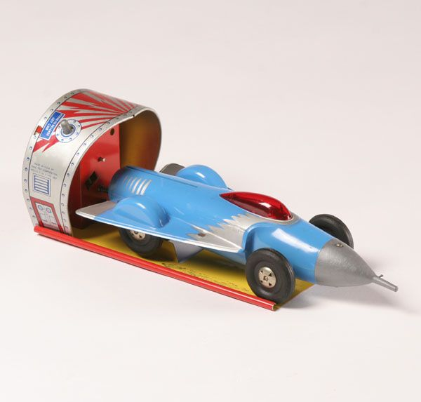 Ideal Toy Mechanical Jet Car Plastic Tin