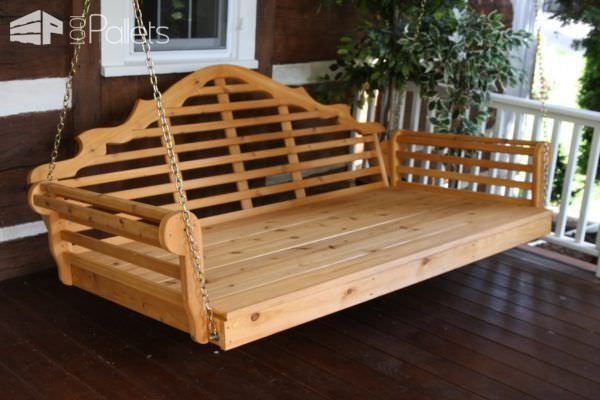Easy Diy Tutorial Build Install One Pallet Swing Bench Pallet