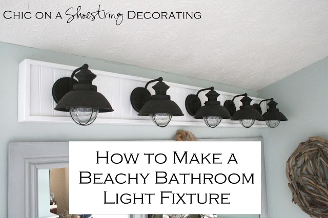 How to make a beachy light fixture by chic on a shoestring - Decorating a beach house on a shoestring ...