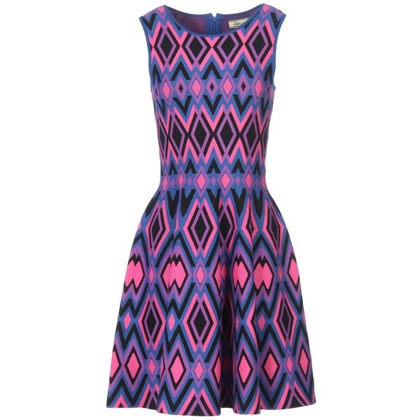 Issa Short Dress (£62) ❤ liked on Polyvore featuring dresses, purple, short dresses, sleeveless short dress, flared dresses, short purple dresses and mini dress