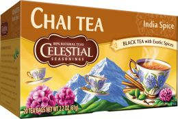 Our India Spice Chai Tea combines black tea and natural spices like ginger and cardamom for an authentic Indian chai flavor! #HotTeaMonth #CelestialChaiTea http://www.celestialseasonings.com/products/chai-teas/india-spice