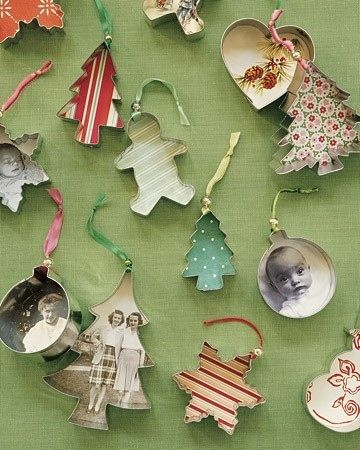 Use them as photo frames for ornaments. | 47 Unexpected Things To Do With Cookie Cutters