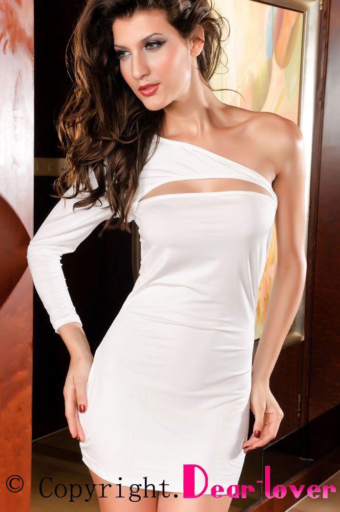 Купить товарОдно плечо мини платье сексуальная декольте белый / черный / красный LC2389 звезда в категории Платьяна AliExpress.  Тип питания: В биржевой товар                        Черное платье                                    Секси бикини набо