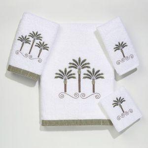 Palm trees beach beach decor and bath towels on pinterest for Palm tree bathroom ideas
