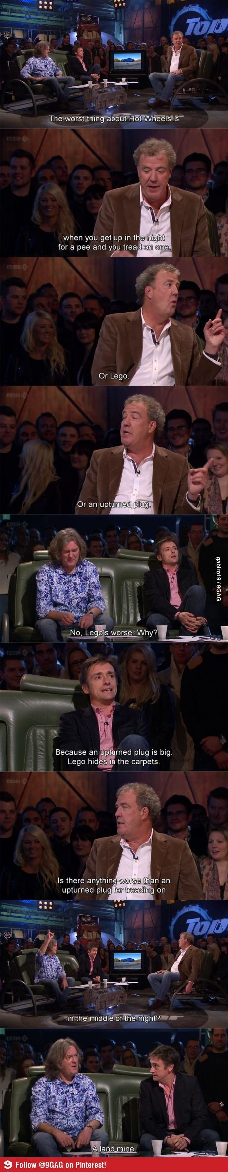 Top Gear: Hahaha! Thank you James May, for putting things in better perspective. :P