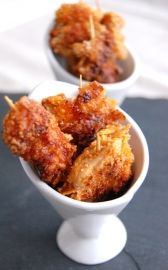 Brochettes croquantes au poulet