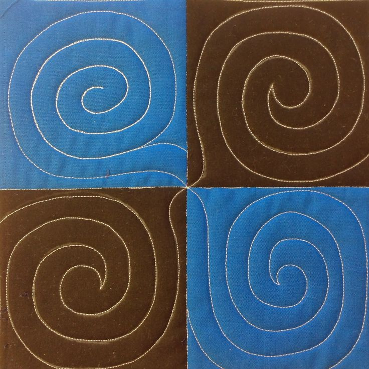 Quilt a 4 Patch with Spirals..The Free Motion Quilting Project