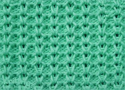 Vertical Honeycomb Brioche Knitting