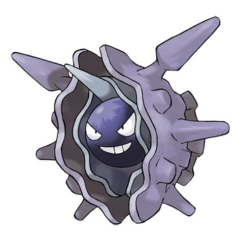 Cloyster - 091 - Cloyster that live in the seas with harsh tidal currents grow large, sharp spikes on their shells. Its shell is extremely hard. It cannot be shattered,  even with a bomb. The shell opens only when it  is attacking.  @PokeMasters