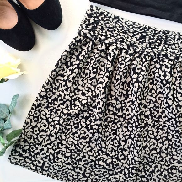 Animal print skirt Animal print skirt with side zip. Color most true to last picture LOFT Skirts