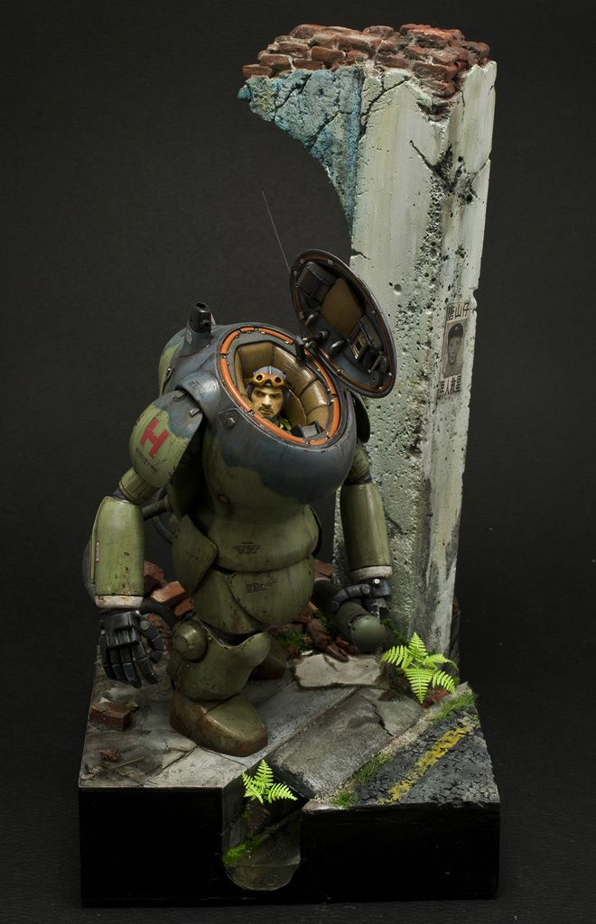 1:20 sci-fi scale model, Maschinen Krieger SAFS MKIII A8/R8, by Julius Lim. Pinned by #relicmodels