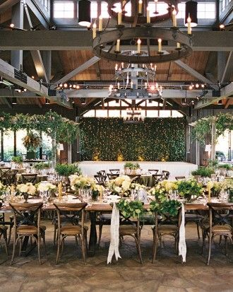 THIS VENUE! --- Get inspired by this refined and rustic North Caroline reception. Just follow the link to view more images!