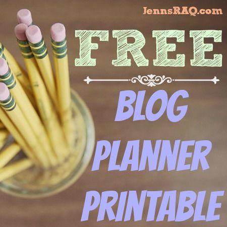 Blog Planner Printable #FREE #blogging - Jenn's RAQ