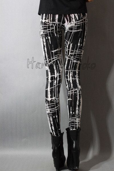 Japan fashion Punk Gothic Rock Visual kei women's girl's leggings one size S04