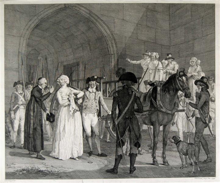 Marie Antoinette auf dem Weg zur Hinrichtung,  Jonxis, Pieter Hendrik (1757-1843), Cuylenburg, Cornelis van (1758-1827),  1794/1827