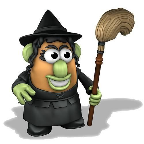 "Mrs. Potato Head - Wizard of Oz Wicked Witch of the West by TMD HOLDINGS, LLC. $19.49. 5.5"" tall.. All plastic components.. Not for children under 3 yrs.. Spud spouse Mrs. Potato Head pays homage to one of the most recognized film villains ever, the Wicked Witch of the West from The Wizard of Oz. All-plastic components include a hat and broom. Order yours now, my pretty!  5.5"" tall.WARNING: Choking Hazard - small parts. Not for children under 3 yrs."