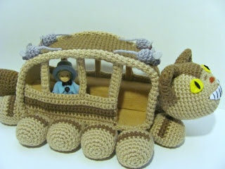 from Totoro - Make your own Cat Bus! Crochet tutorial plus video.