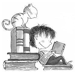 Sam from Marie Louise Gay's children's book series of Stella and Sam #cats #MarieLouiseGay #ChildrenBook