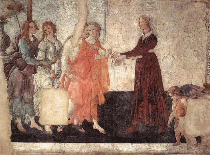 Η Αφροδίτη και οι τρεις Χάριτες προσφέροντας δώρα σε μια νέα γυναίκα (1484)