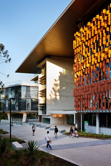 The University Of Queensland Opens Engineering Facility With A Louvred Terracotta Facade - http://www.dailylifestyleideas.com/decor-ideas/the-university-of-queensland-opens-engineering-facility-with-a-louvred-terracotta-facade.html