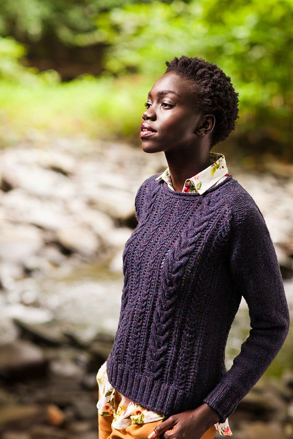 Bray Pullover Lace & Cable Pullover by Jared Flood