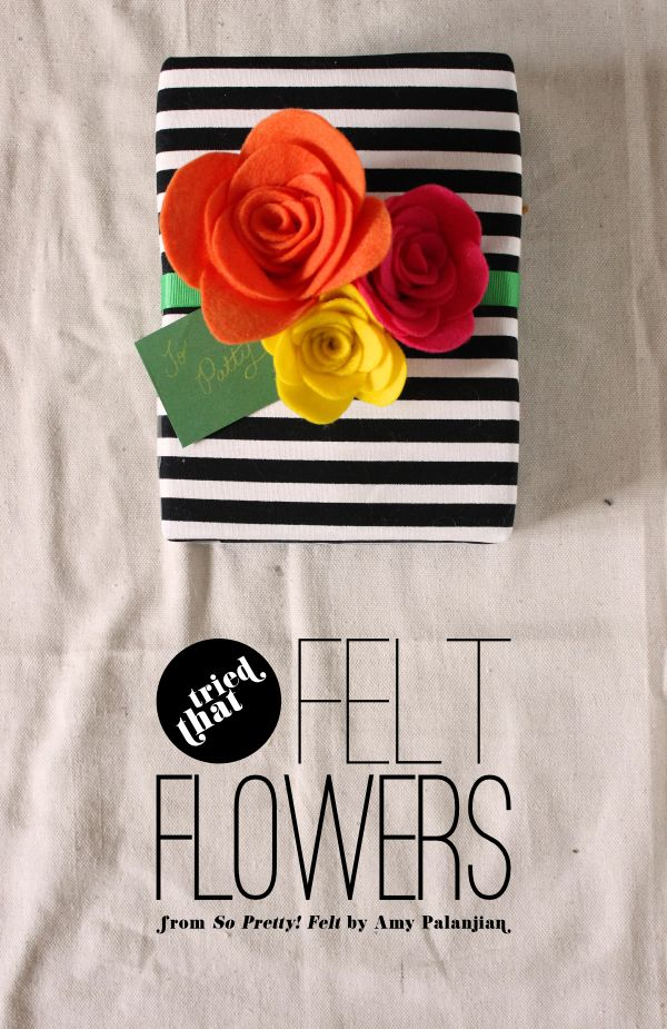 Fabric Paper Glue | Felt Flowers Gift Topper from So Pretty! Felt