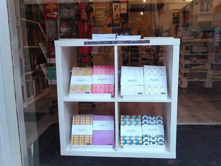 Adile's note book  in a bookshop