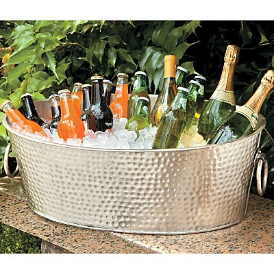 Our Hammered Metal Beverage Tub Will Be The Hit Of The Party! This Large  Ice Tub Is Ideal For Outdoor Entertaining.