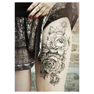 20 Thigh Tattoo Designs for Every Woman