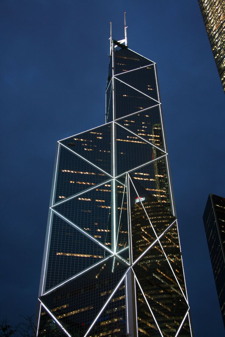 best building in HK-Bank of China Tower by I.M. Pei