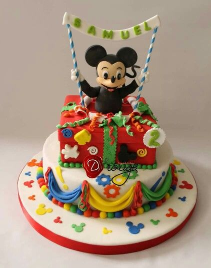 Torta Mickey Mouse 100 % Comestible.